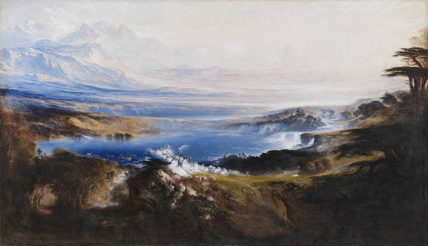 The Plains of Heaven 1851-3 by John Martin 1789-1854